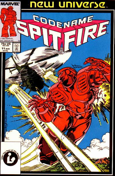 Cover for Codename: Spitfire (Marvel, 1987 series) #11 [Newsstand Edition]