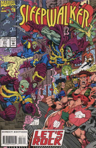 Cover for Sleepwalker (Marvel, 1991 series) #27