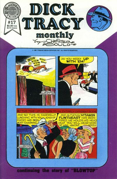 Cover for Dick Tracy Monthly (Blackthorne, 1986 series) #17
