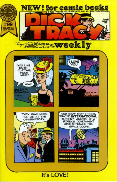 Cover for Dick Tracy Weekly (Blackthorne, 1988 series) #99