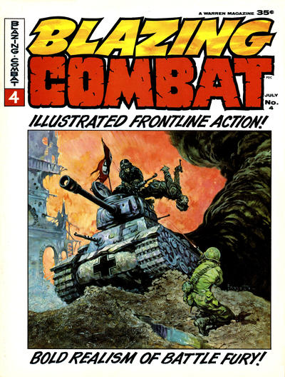 Cover for Blazing Combat (Warren, 1965 series) #4