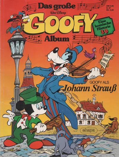 Cover for Das große Goofy Album (Egmont Ehapa, 1977 series) #30 - Goofy als Johann Strauss