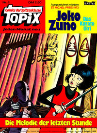 Cover Thumbnail for Topix (Bastei Verlag, 1976 series) #5 - Joko Zuno das Karategirl - Die Melodie der letzten Stunde