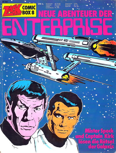 Cover for Zack Comic Box (Koralle, 1972 series) #8 - Neue Abenteuer der Enterprise