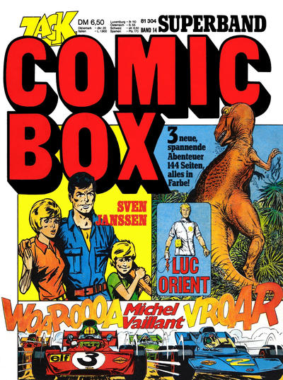 Cover for Zack Comic Box (Koralle, 1972 series) #14 - Luc Orient / Michel Vaillant / Sven Janssen