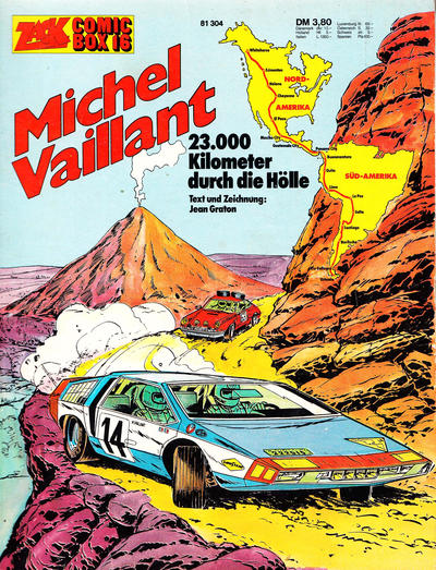 Cover for Zack Comic Box (Koralle, 1972 series) #16 - Michel Vaillant - 23000 Kilometer