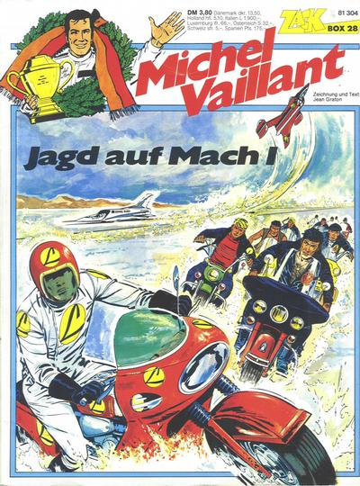 Cover for Zack Comic Box (Koralle, 1972 series) #28 - Michel Vaillant - Jagd auf Mach 1