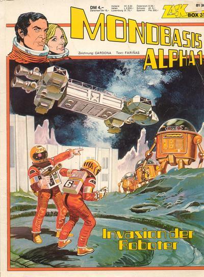Cover for Zack Comic Box (Koralle, 1972 series) #31 - Mondbasis Alpha 1 - Invasion der Roboter
