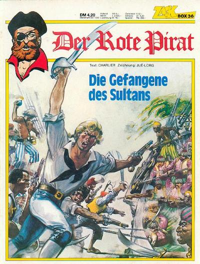 Cover for Zack Comic Box (Koralle, 1972 series) #36 - Der rote Pirat - Die Gefangene des Sultans