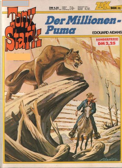 Cover for Zack Comic Box (Koralle, 1972 series) #38 - Tony Stark - Der Millionen-Puma