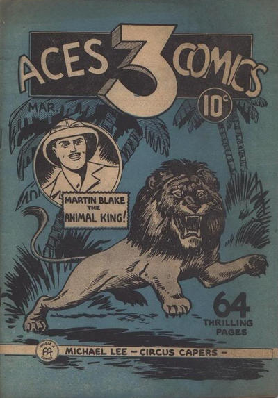Cover for Three Aces Comics (Anglo-American Publishing Company Limited, 1941 series) #v1#3
