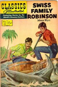 Cover Thumbnail for Classics Illustrated (Gilberton, 1947 series) #42 [HRN 152] - Swiss Family Robinson