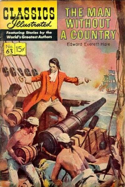 Cover for Classics Illustrated (Gilberton, 1947 series) #63 [HRN165] - The Man Without A Country