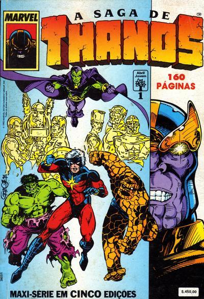 Cover for A Saga de Thanos (Editora Abril, 1992 series) #1