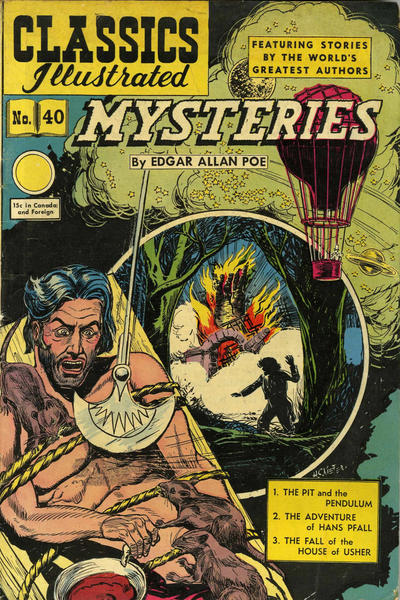 Cover for Classics Illustrated (Gilberton, 1947 series) #40 [HRN62] - Mysteries
