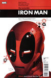 Cover for Invincible Iron Man (Marvel, 2008 series) #23 [1 in 10 Deadpool Variant]