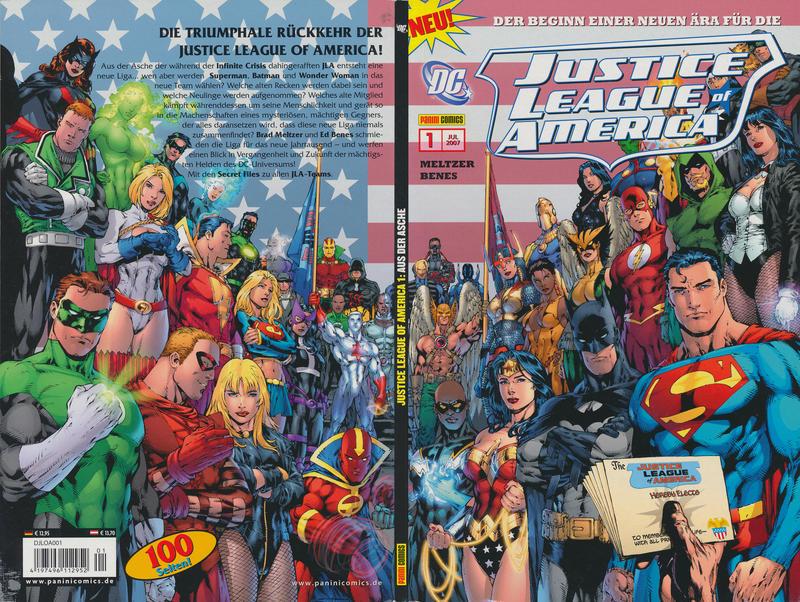 Cover for Justice League of America Sonderband (Panini Deutschland, 2007 series) #1 - Aus der Asche