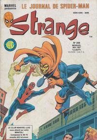 Cover Thumbnail for Strange (Editions Lug, 1970 series) #209