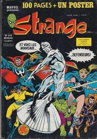 Cover Thumbnail for Strange (Editions Lug, 1970 series) #210