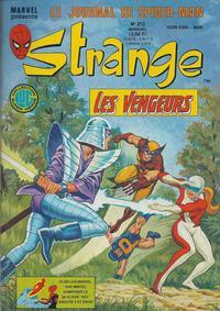 Cover Thumbnail for Strange (Editions Lug, 1970 series) #212