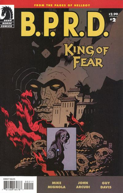 Cover for B.P.R.D.: King of Fear (Dark Horse, 2010 series) #2