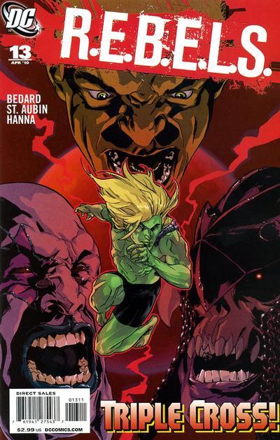 Cover for R.E.B.E.L.S. (DC, 2009 series) #13