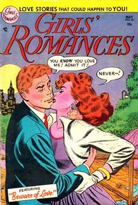 Cover for Girls' Romances (DC, 1950 series) #26