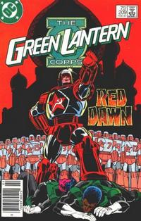 Cover Thumbnail for The Green Lantern Corps (DC, 1986 series) #209 [Newsstand Edition]