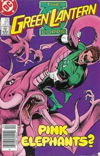 Cover Thumbnail for The Green Lantern Corps (DC, 1986 series) #211 [Newsstand Edition]