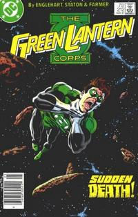 Cover Thumbnail for The Green Lantern Corps (DC, 1986 series) #212 [Newsstand Edition]