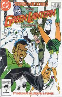Cover Thumbnail for The Green Lantern Corps (DC, 1986 series) #218 [Direct Edition]