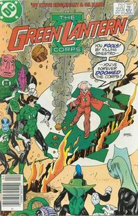 Cover for The Green Lantern Corps (DC, 1986 series) #223 [Direct]