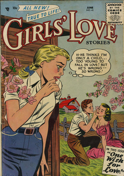 Cover for Girls' Love Stories (DC, 1949 series) #41