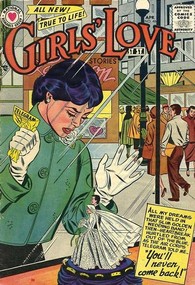 Cover for Girls' Love Stories (DC, 1949 series) #46
