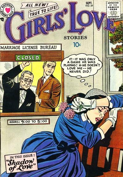 Cover for Girls' Love Stories (DC, 1949 series) #49