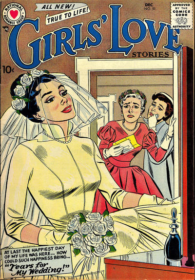 Cover for Girls' Love Stories (DC, 1949 series) #51