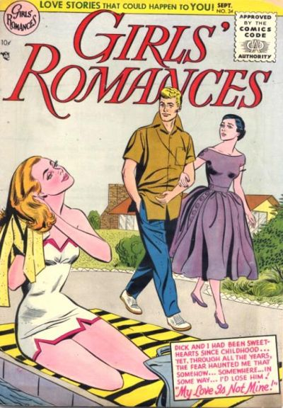 Cover for Girls' Romances (DC, 1950 series) #34