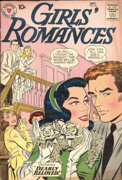 Cover for Girls' Romances (DC, 1950 series) #70