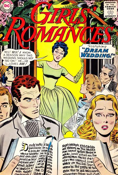 Cover for Girls' Romances (DC, 1950 series) #90
