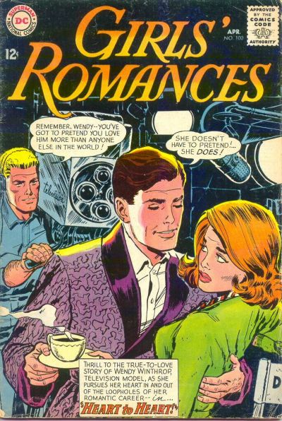 Cover for Girls' Romances (DC, 1950 series) #100