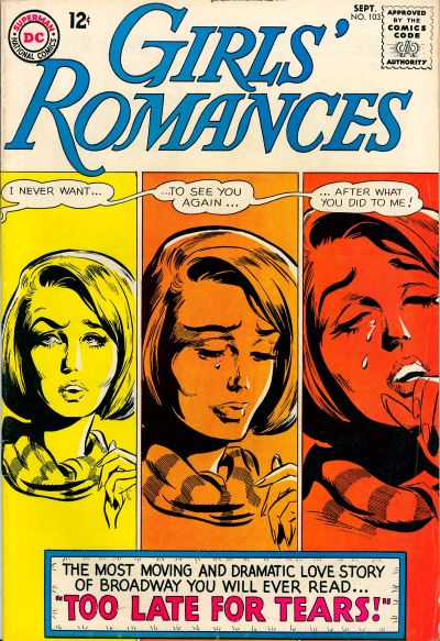 Cover for Girls' Romances (DC, 1950 series) #103