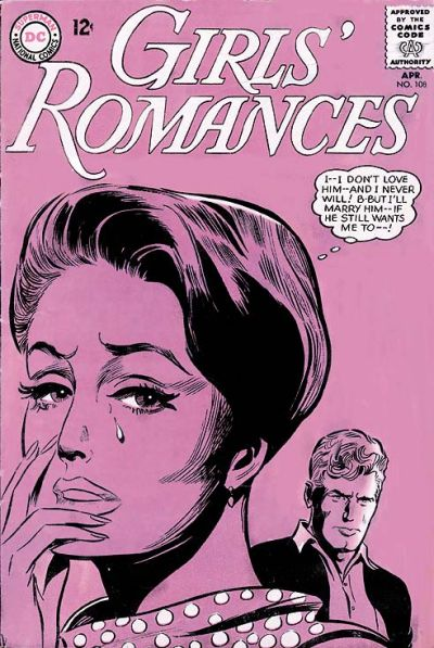 Cover for Girls' Romances (DC, 1950 series) #108