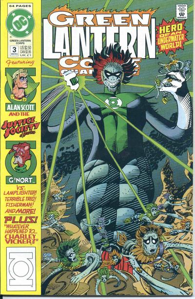 Cover for Green Lantern Corps Quarterly (DC, 1992 series) #3 [Direct]