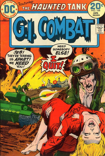 Cover for G.I. Combat (DC, 1957 series) #168