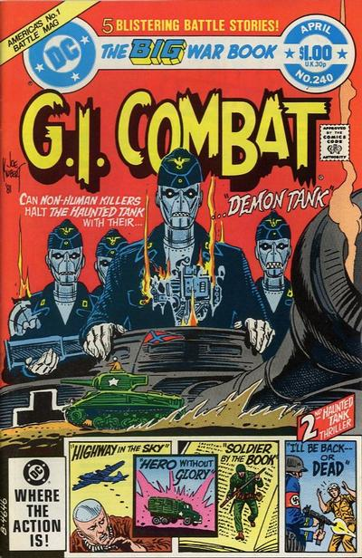 Cover for G.I. Combat (DC, 1957 series) #240 [Newsstand]