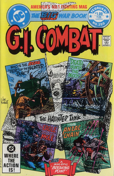 Cover for G.I. Combat (DC, 1957 series) #250 [Newsstand]