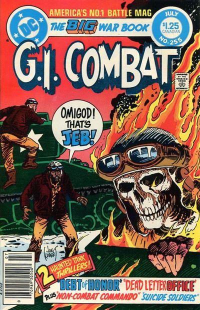 Cover for G.I. Combat (DC, 1957 series) #255 [Newsstand]