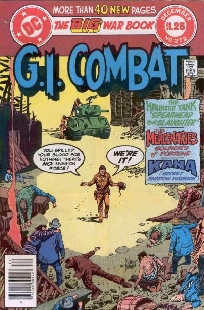 Cover for G.I. Combat (DC, 1957 series) #272 [Direct]