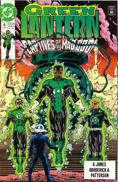 Cover for Green Lantern (DC, 1990 series) #6 [Direct]