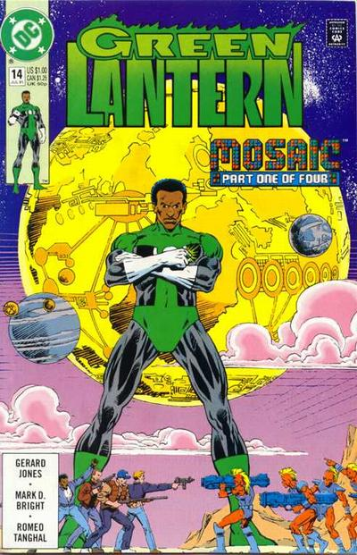 Cover for Green Lantern (DC, 1990 series) #14 [Newsstand]